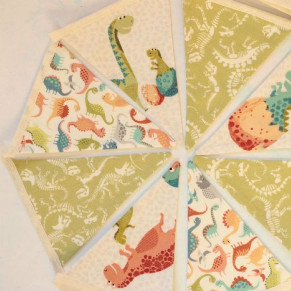 Colourful Dinosaur Mini Cotton Bunting